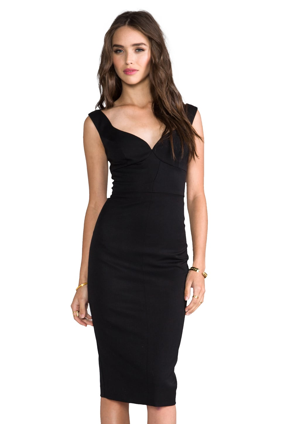 Black Halo Ally Sheath Dress in Black