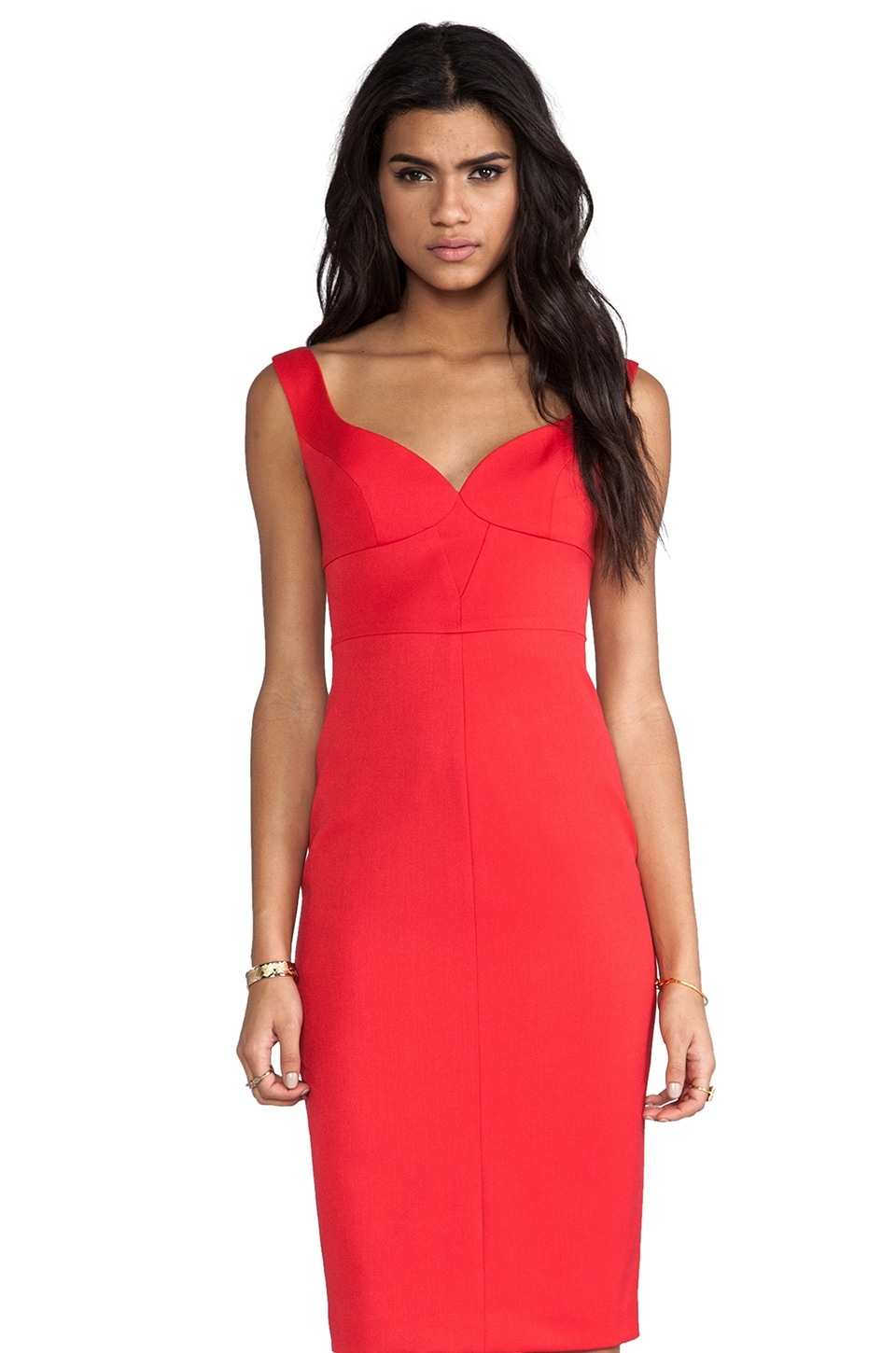 Black Halo Ally Sheath Dress in Red Lotus