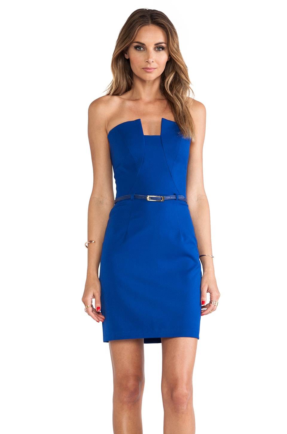 Black Halo Lena Mini Dress in Cobalt