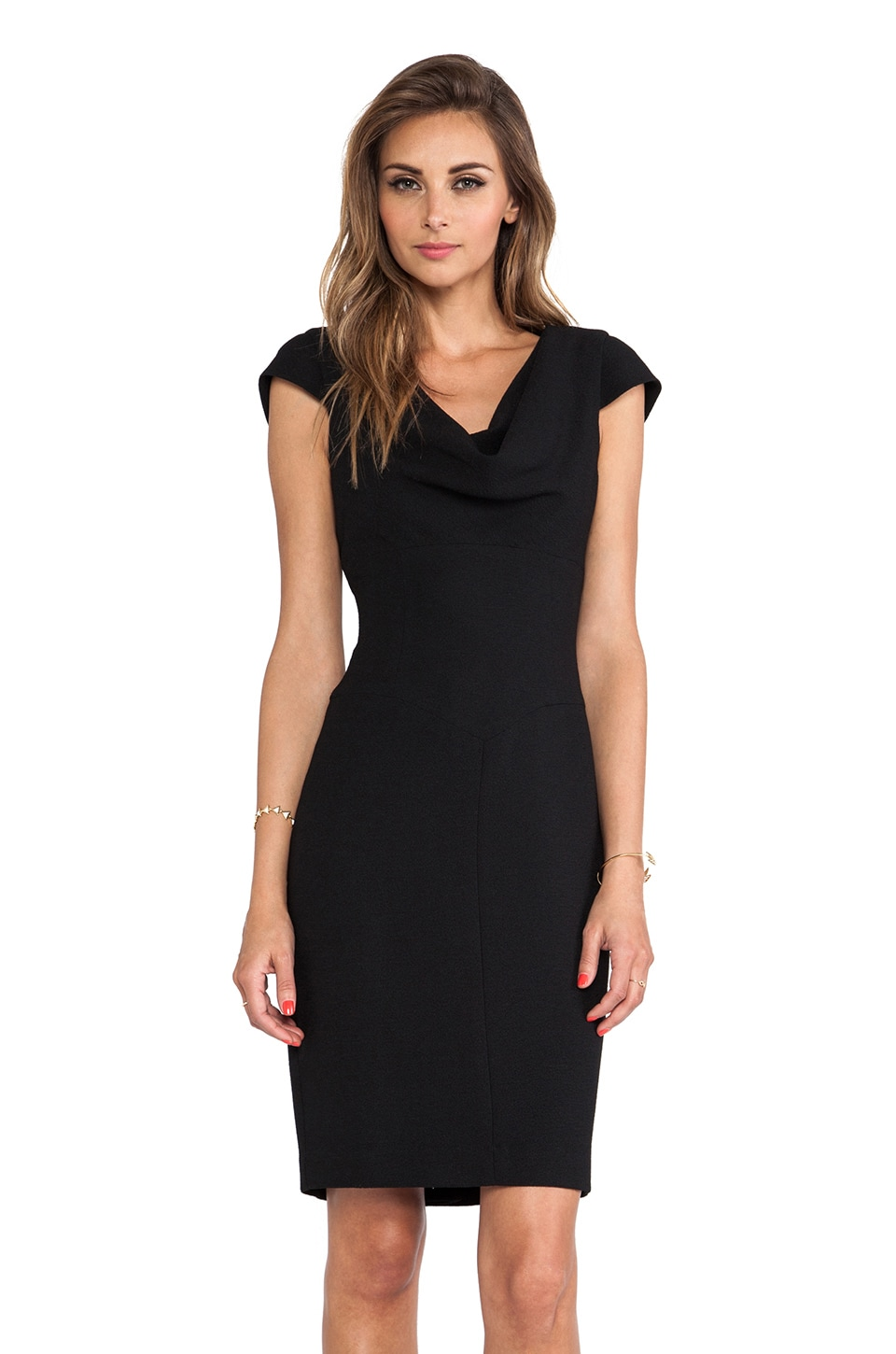 Black Halo Gretchen Dress in Black