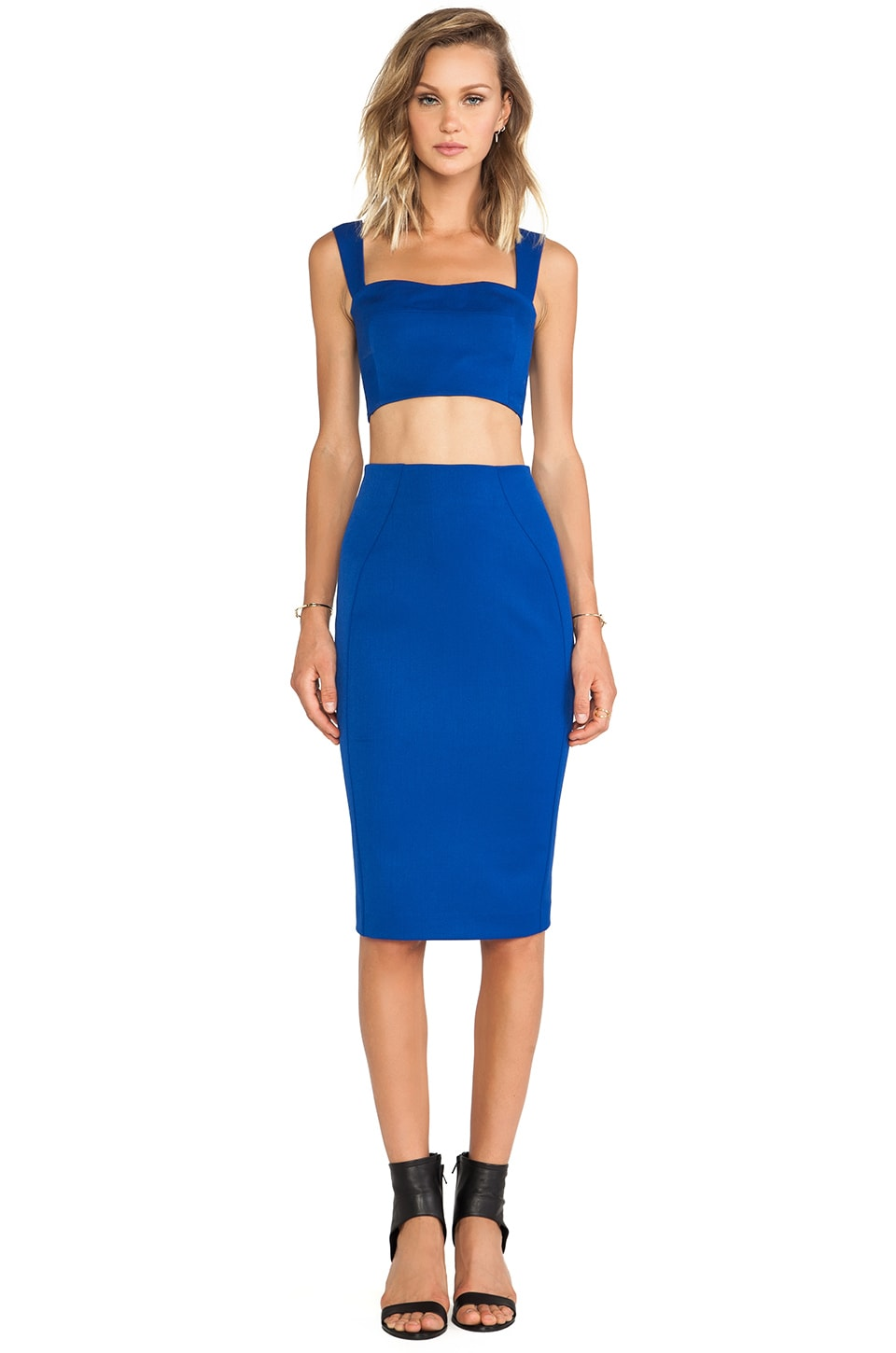 Black Halo Kayley 2 Piece Dress in Cobalt