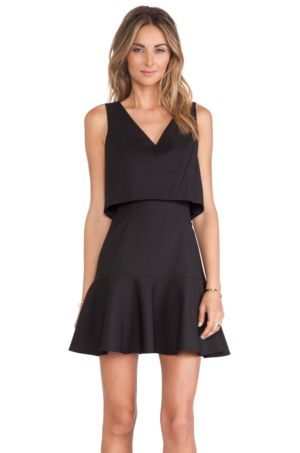 Black Halo Shawna Mini Dress in Black