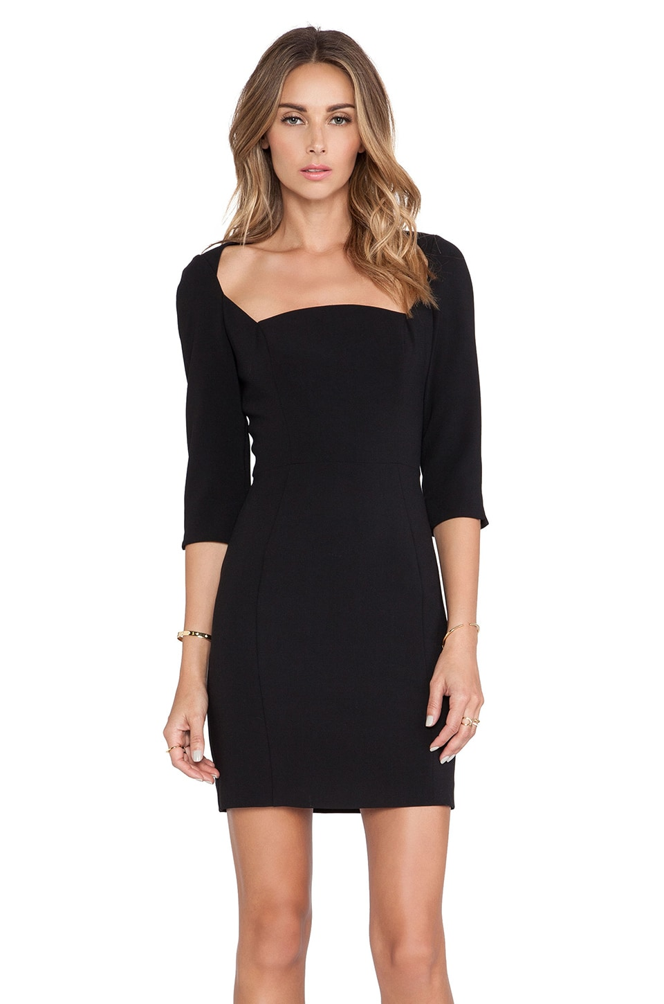 Black Halo x REVOLVE Emeline Sheath Mini Dress in Black