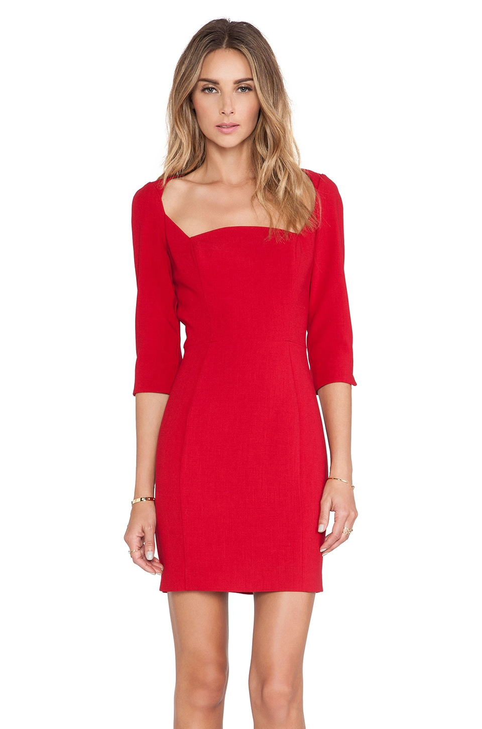 Black Halo x REVOLVE Emeline Sheath Mini Dress in Bonfire