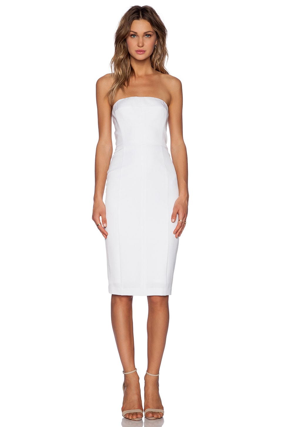 b4e81bb83f5 WHITE STRAPLESS DRESS - Gunda Daras