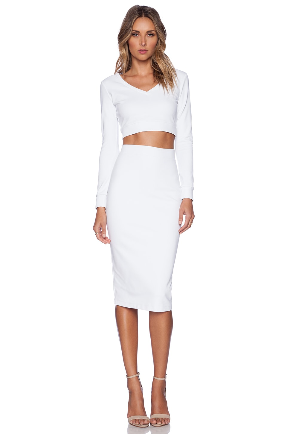 Black Halo Marett Two Piece Set in White