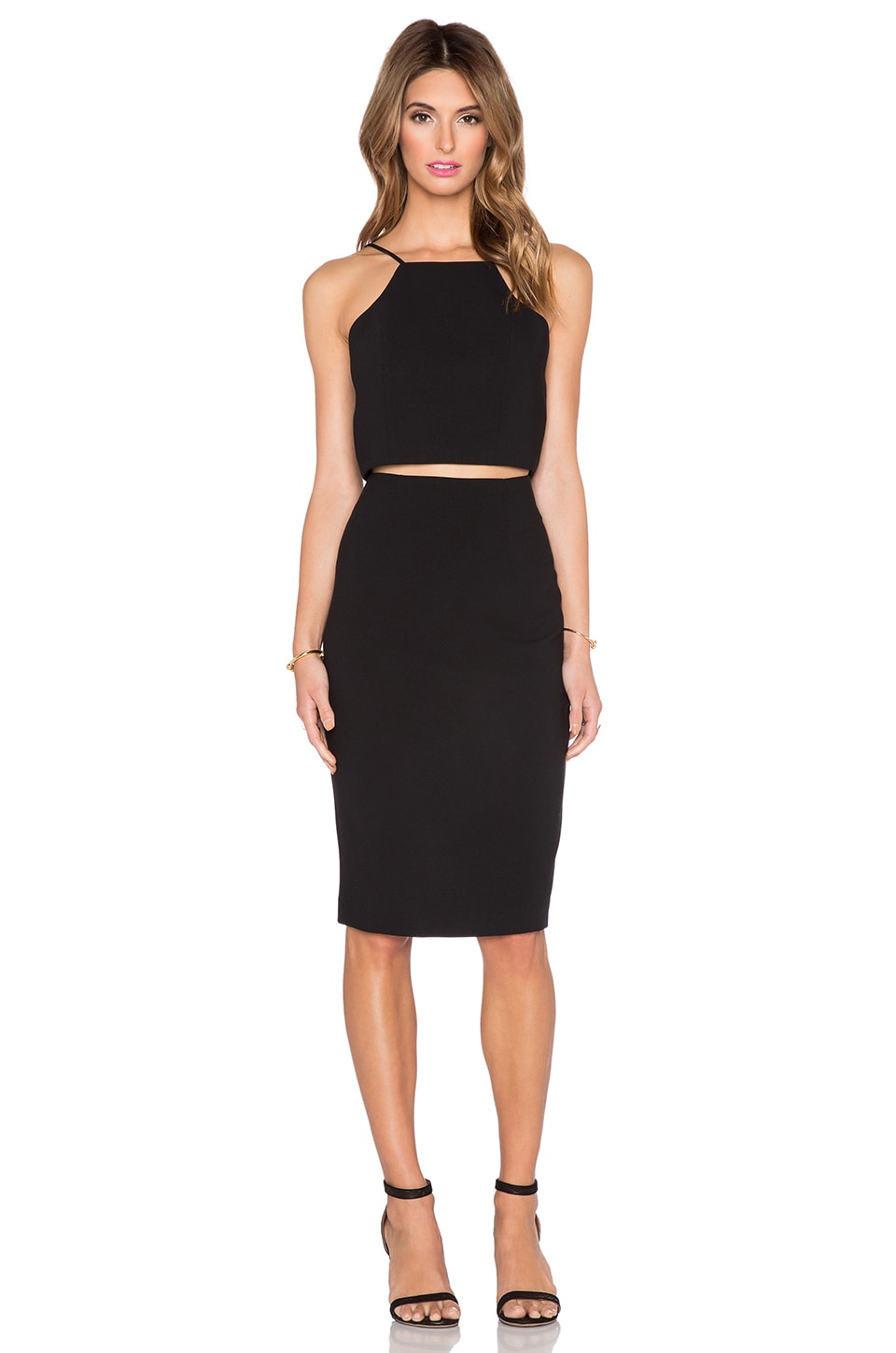 Black Halo Andretti 2 Piece Dress in Black