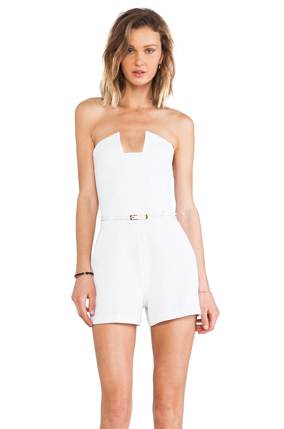 Black Halo x REVOLVE Lena Romper in White