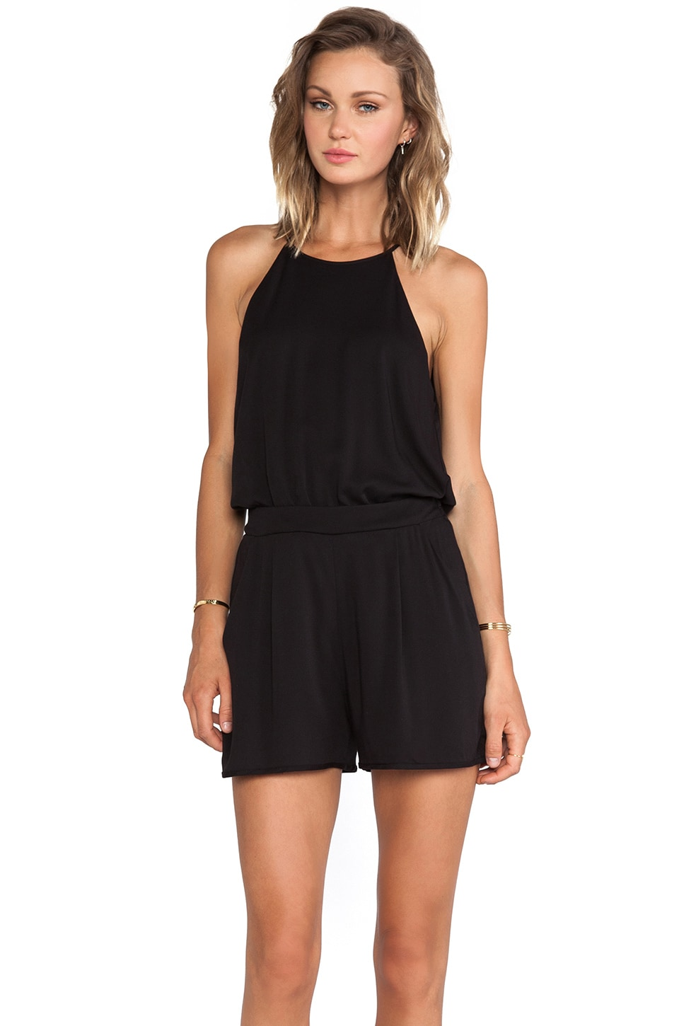 Black Halo Naomi Romper in Black