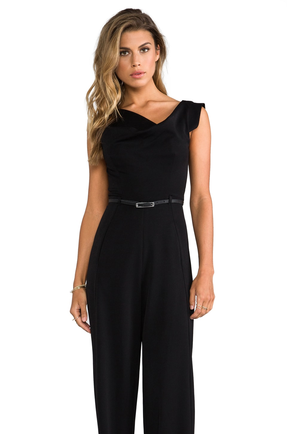 Black Halo Jackie Jumpsuit in Black