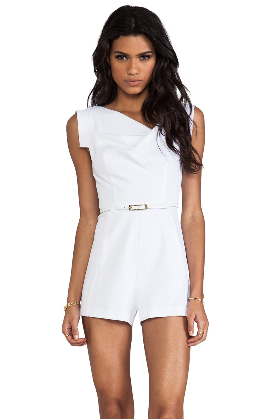 Black Halo Jackie-O Romper in White
