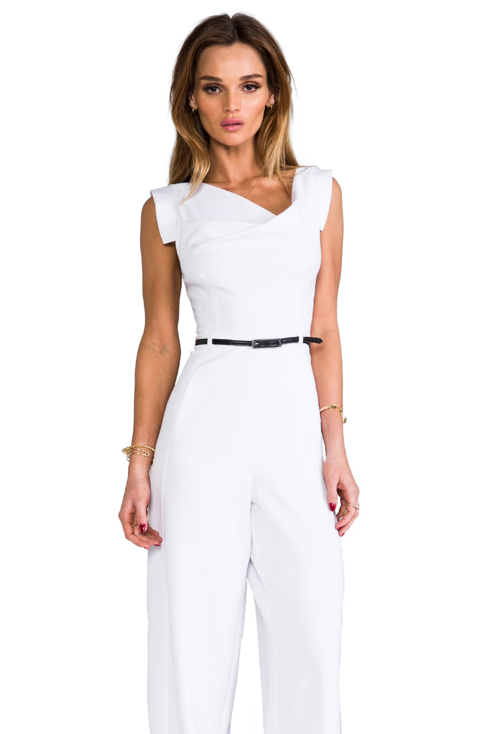 Black Halo Jackie Jumpsuit in White