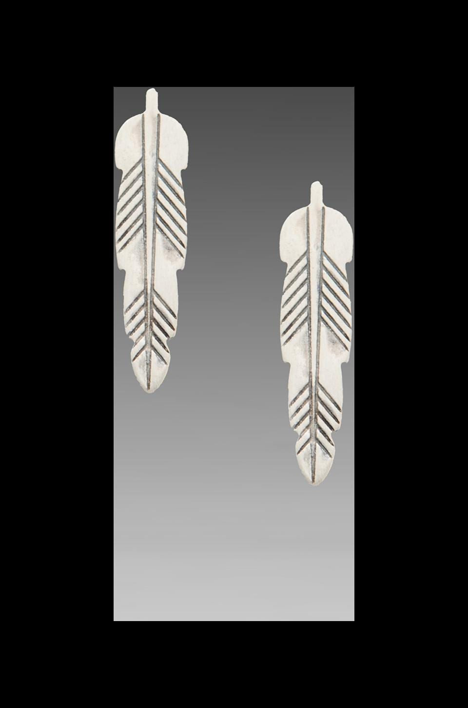 Bing Bang Kachina Feather Studs in Silver