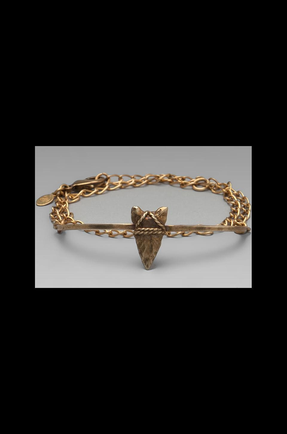 Bing Bang Brave Arrow Wrap Chain Bracelet in Brass