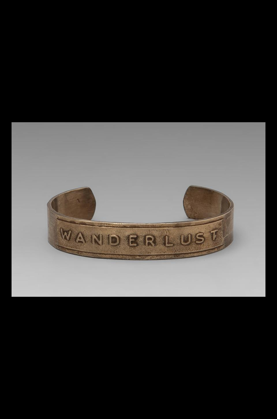 Bing Bang Wanderlust Cuff in Brass