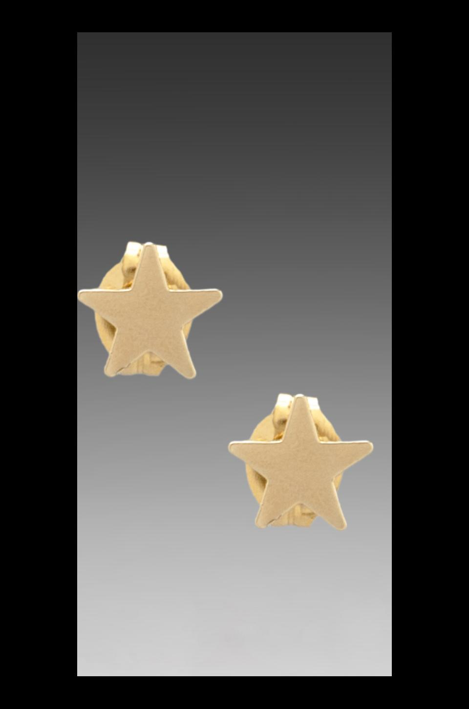 Bing Bang Star Studs in Yellow Gold