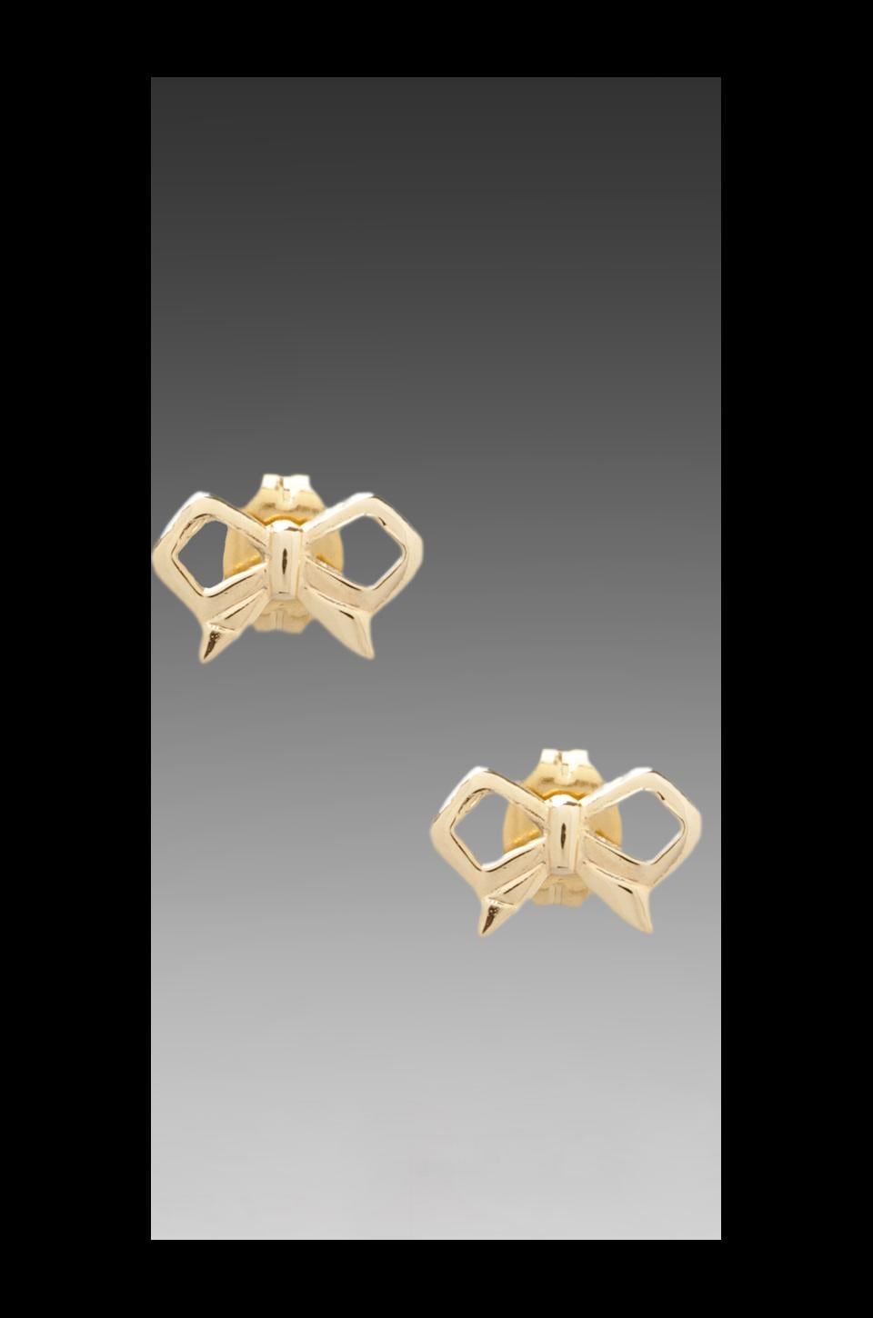 Bing Bang Bow Studs in Yellow Gold