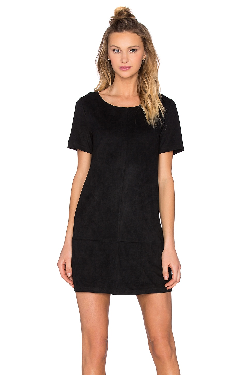 Bishop + Young Suede Dress in Black