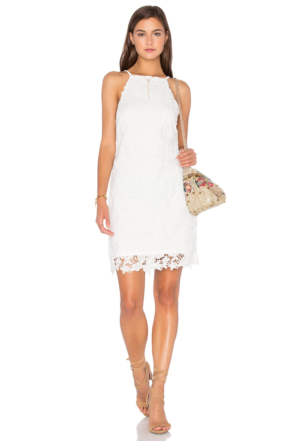 Bishop + Young Into The Sunset Crochet Dress in White
