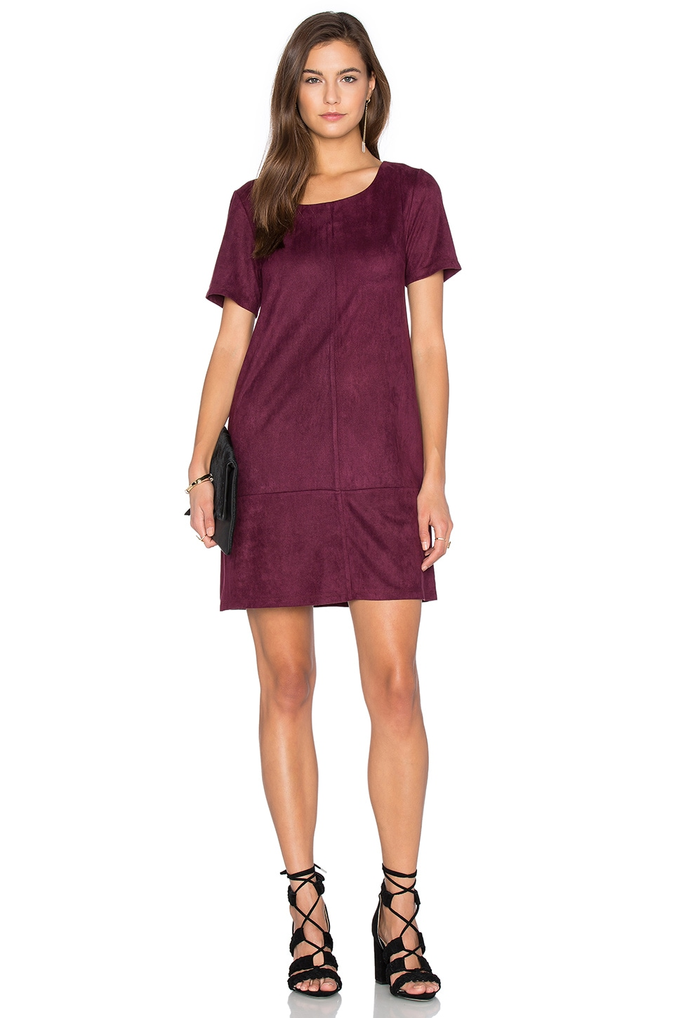 Ivy Suede Shift Dress by Bishop + Young