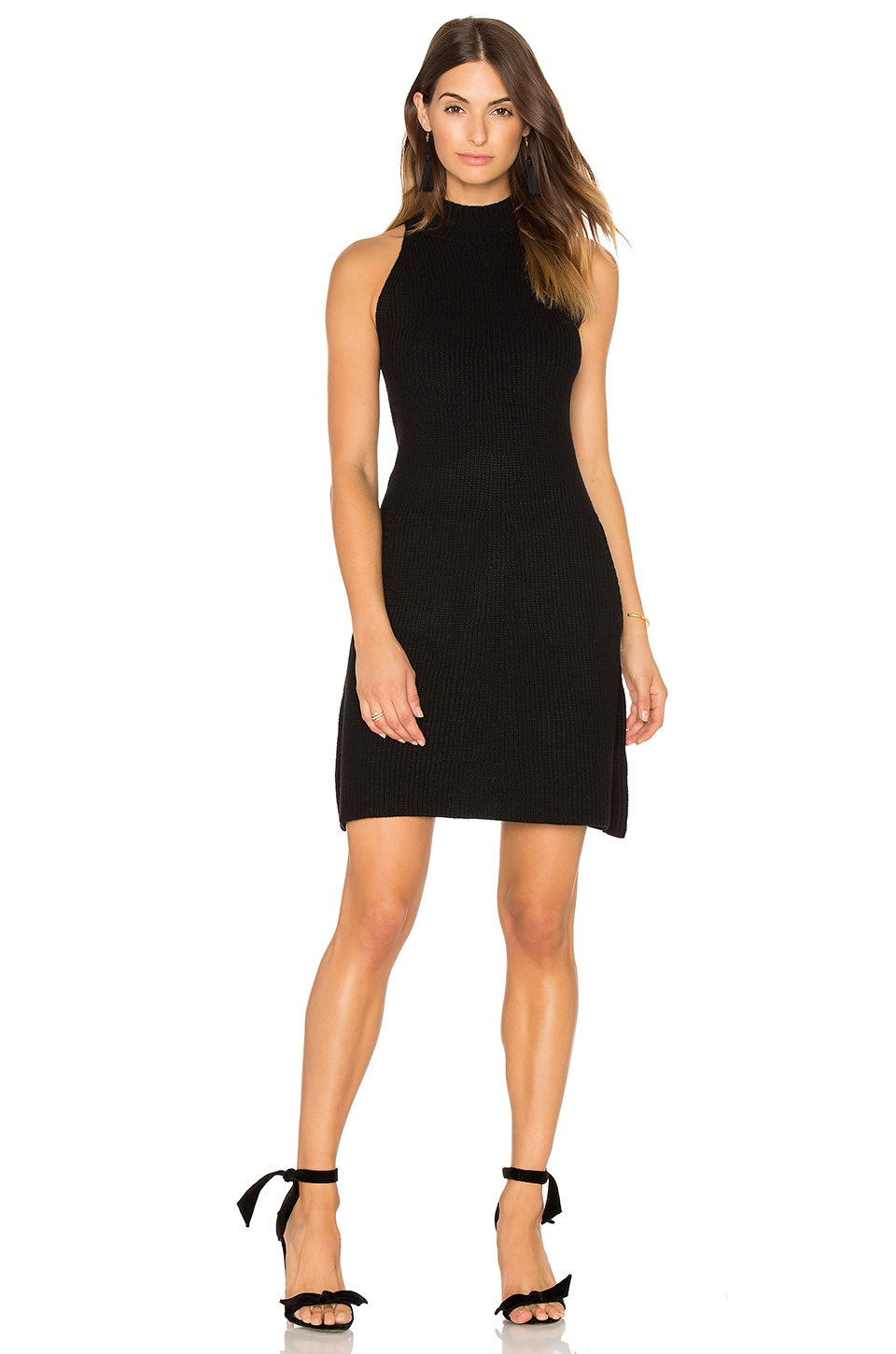 e4056b7db1c Bishop + Young Scarlett Ribbed Sweater Dress in Black