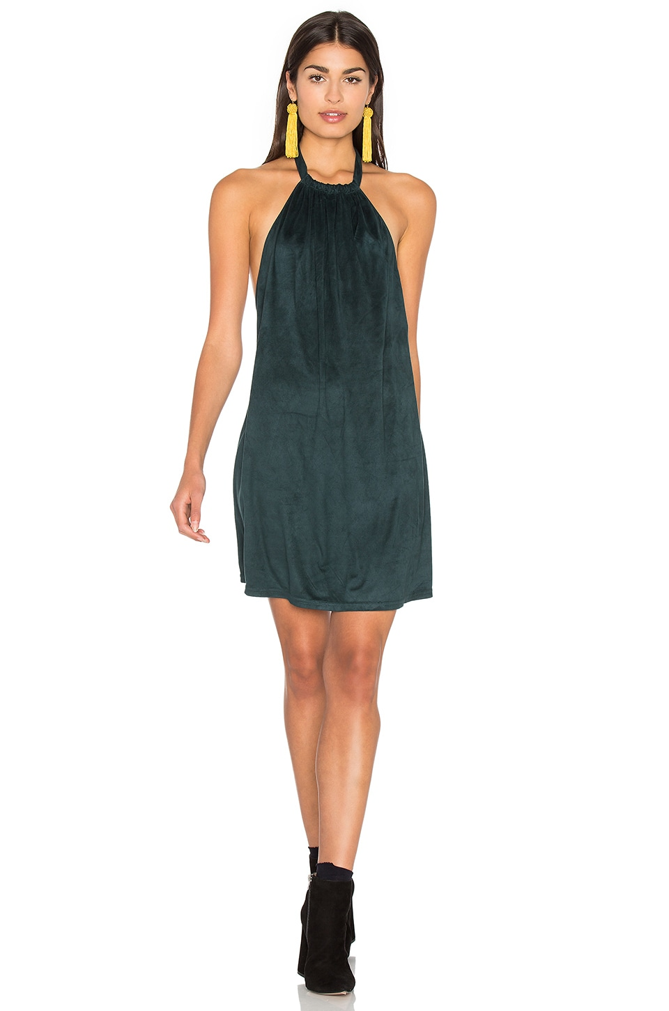 Suede Halter Dress by Bishop + Young