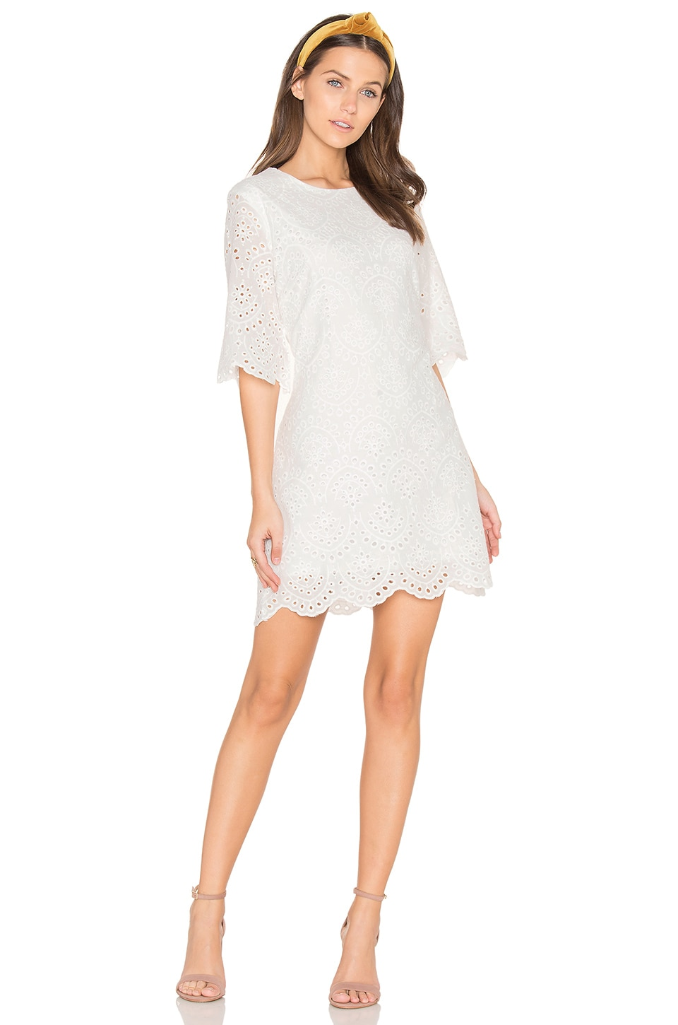 Scalloped Mini Dress by Bishop + Young