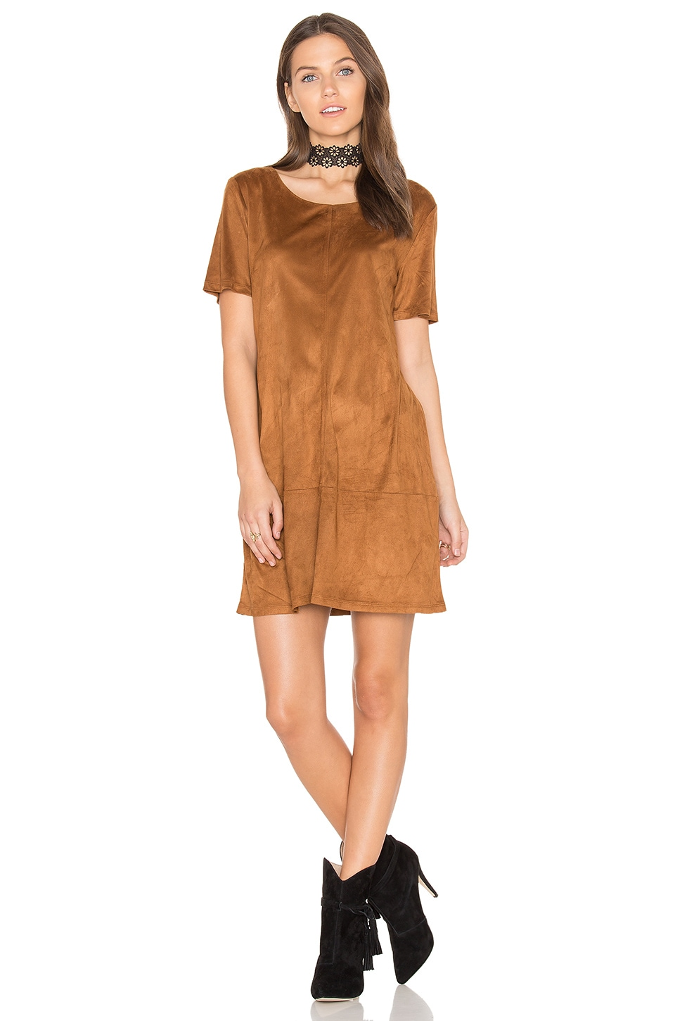 Sueded Ivy Shift Dress by Bishop + Young