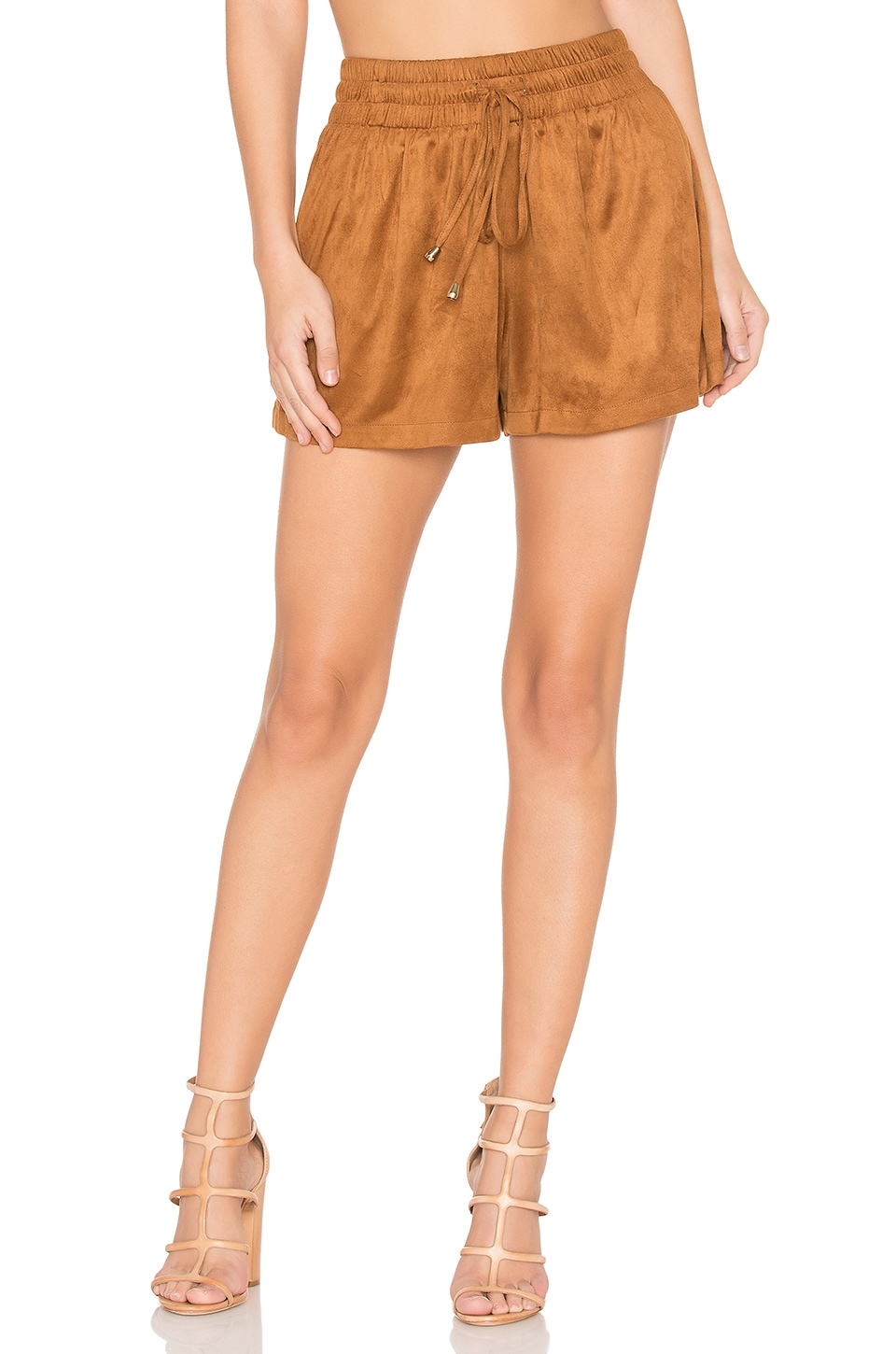 Bishop + Young Sueded Shorts in Camel