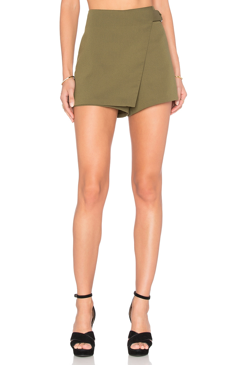 Bishop + Young Buckle Skort in Olive