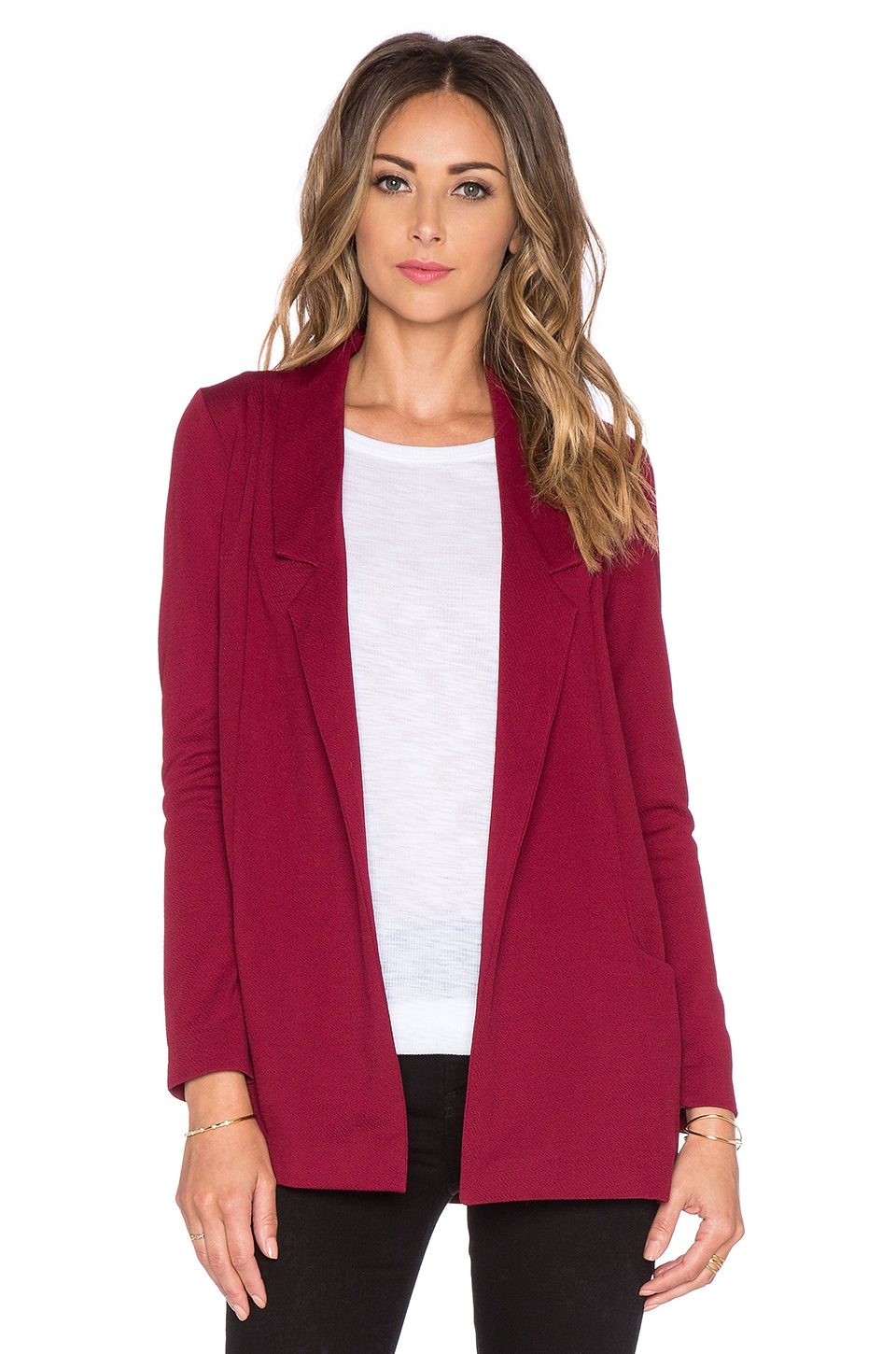 Bishop + Young Michelle Blazer in Burgundy