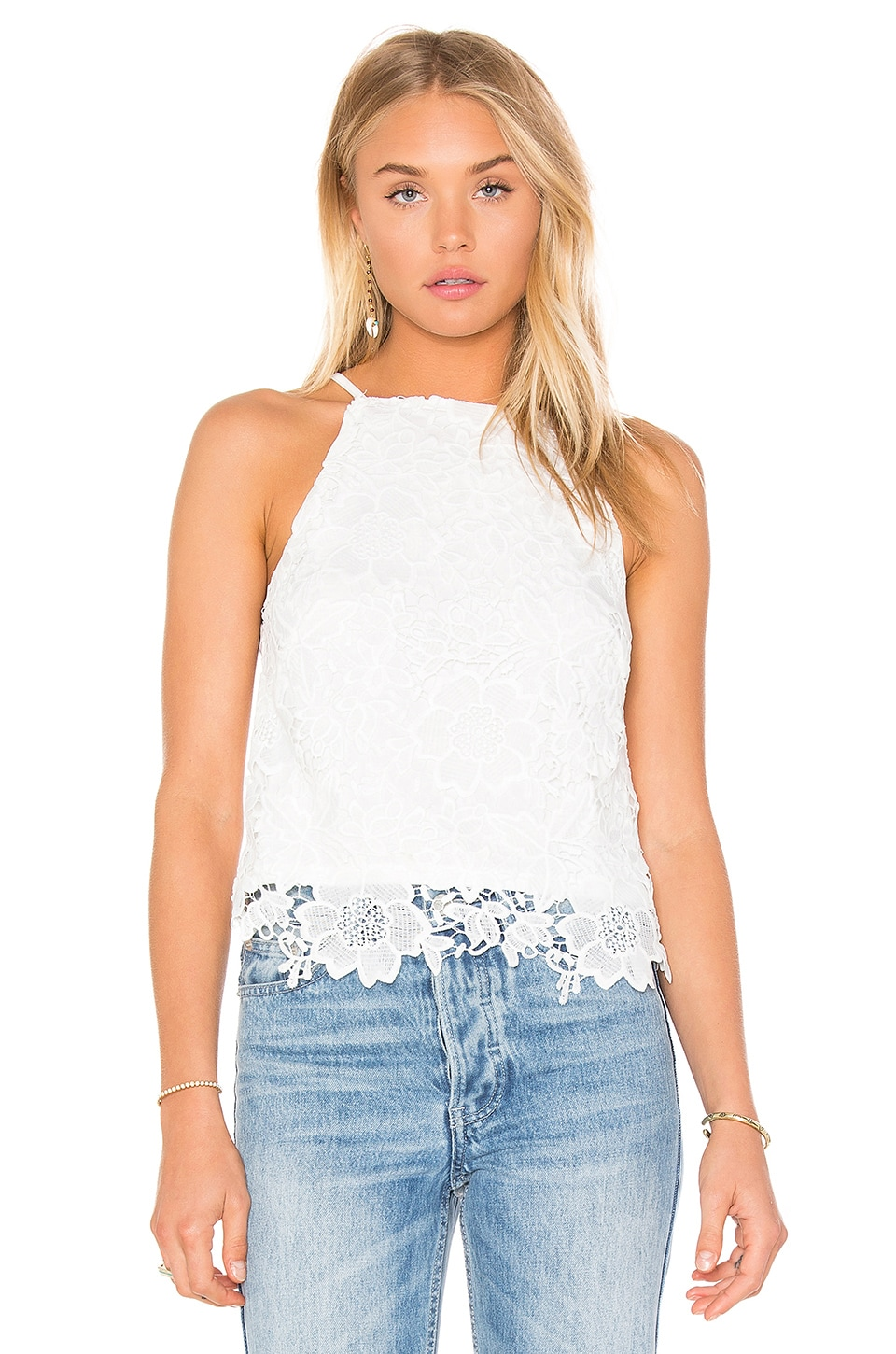 Bishop + Young Into The Sunset Crochet Tank in White