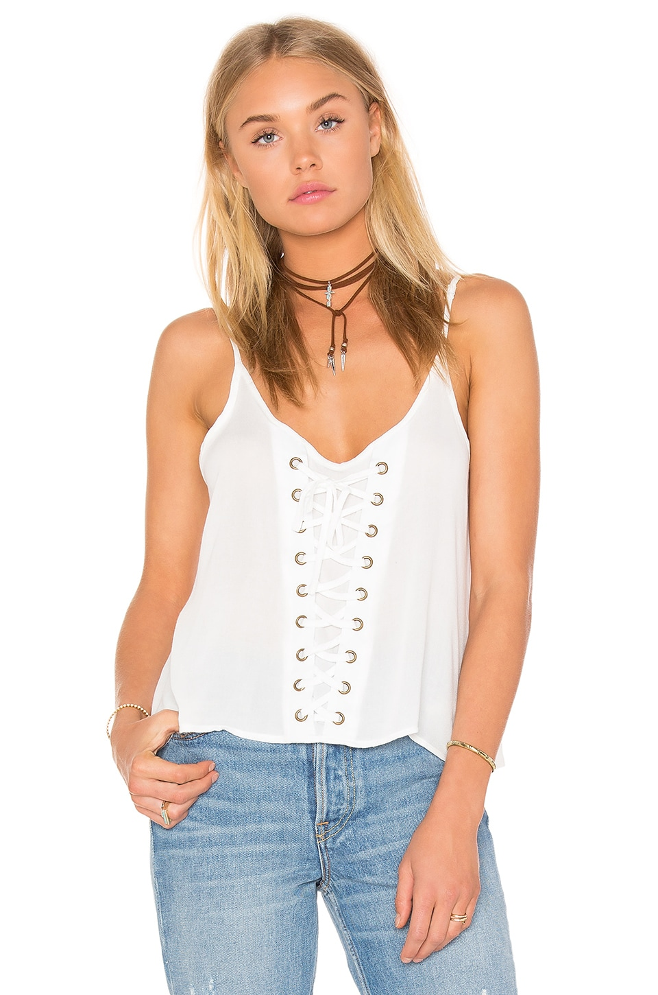 Lace Up Tank by Bishop + Young