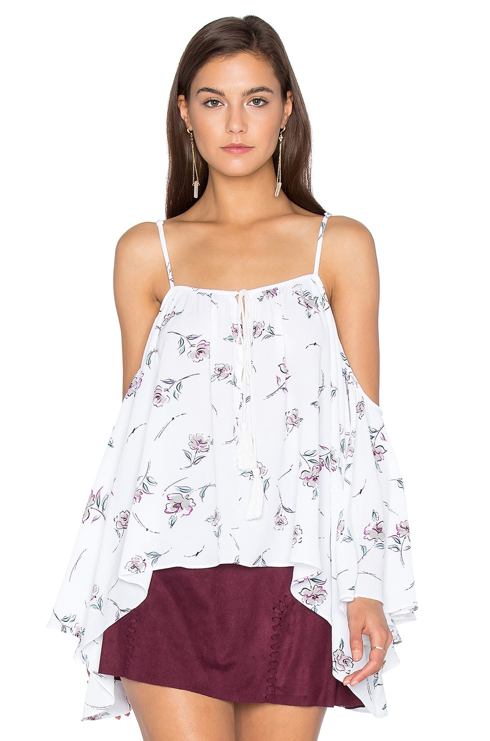Photo of Cold Shoulder Peasant Top by Bishop + Young on sale