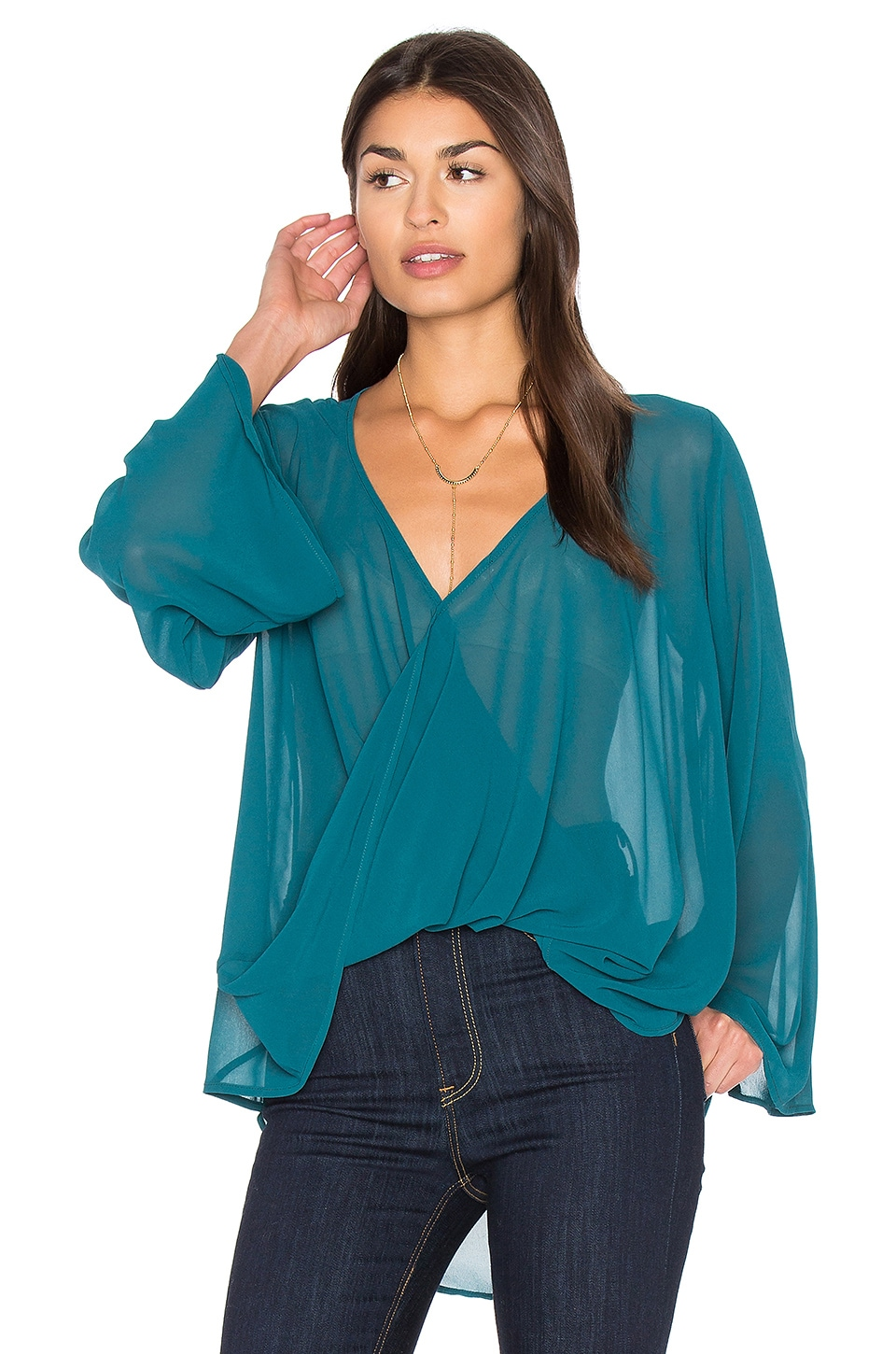 Bell Sleeve Crossover Top by Bishop + Young