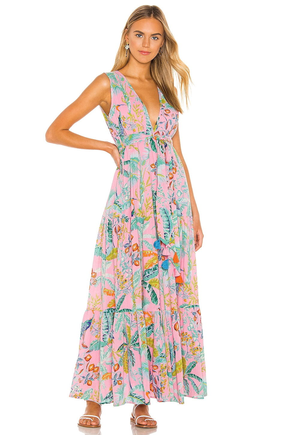 Banjanan Carlota Maxi Dress in Lisbon Garden Wild Rose