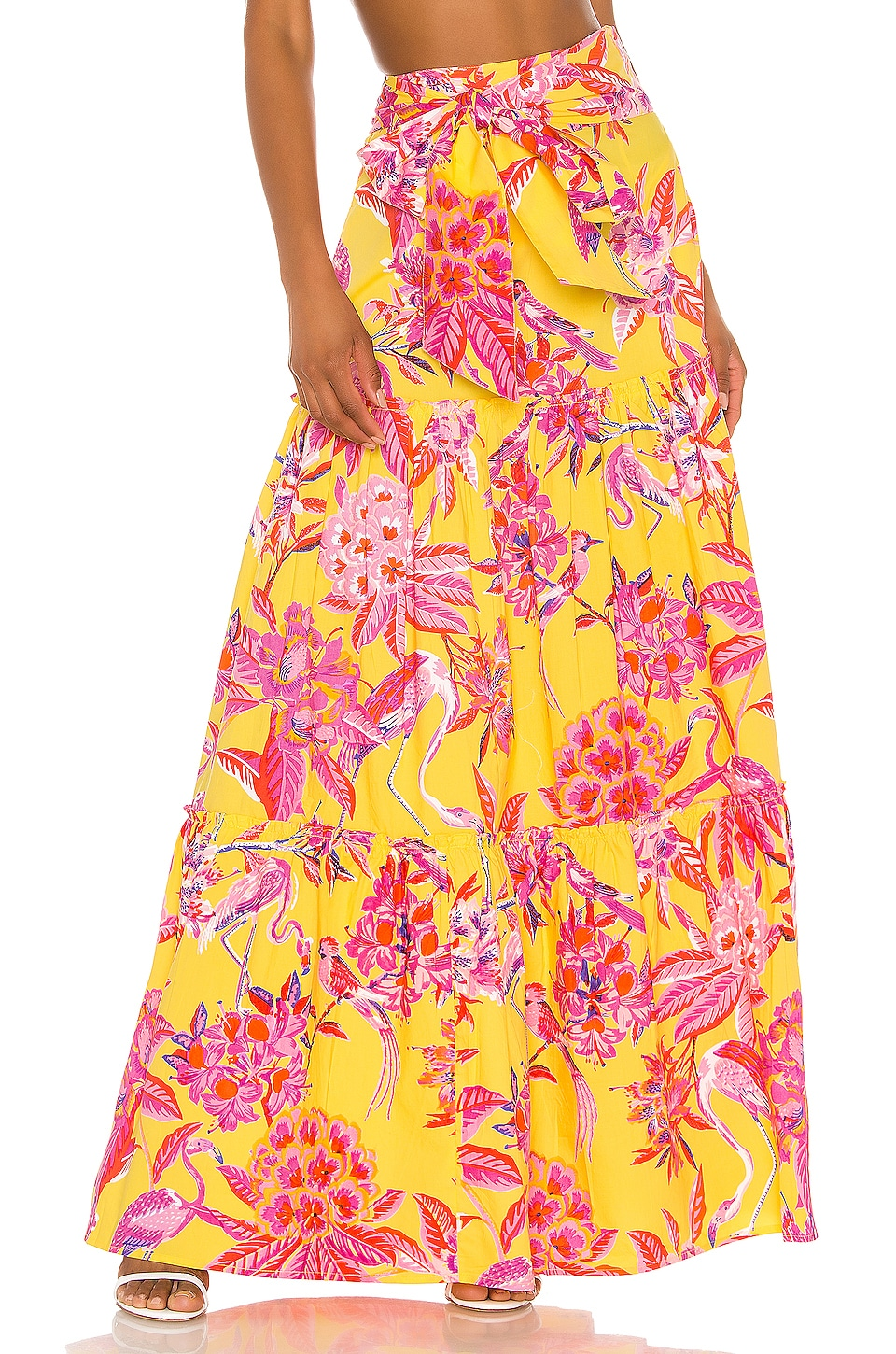 Banjanan Discovery Skirt in Flamingo Rhododendron Vibrant Yellow