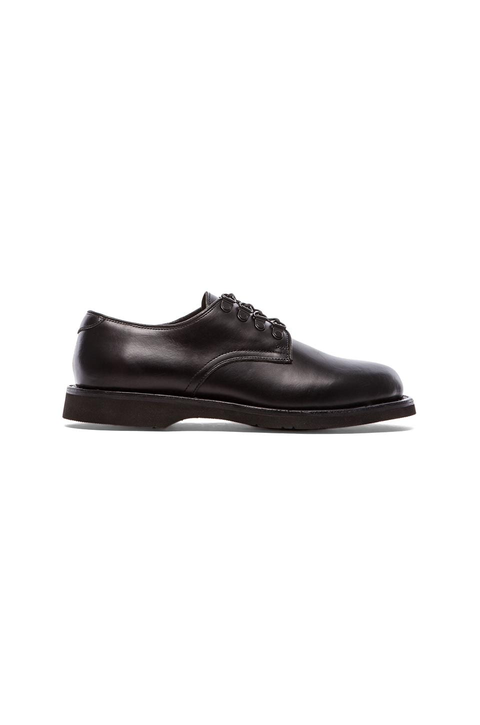Broken Homme Billy D-Ring Oxford in Black