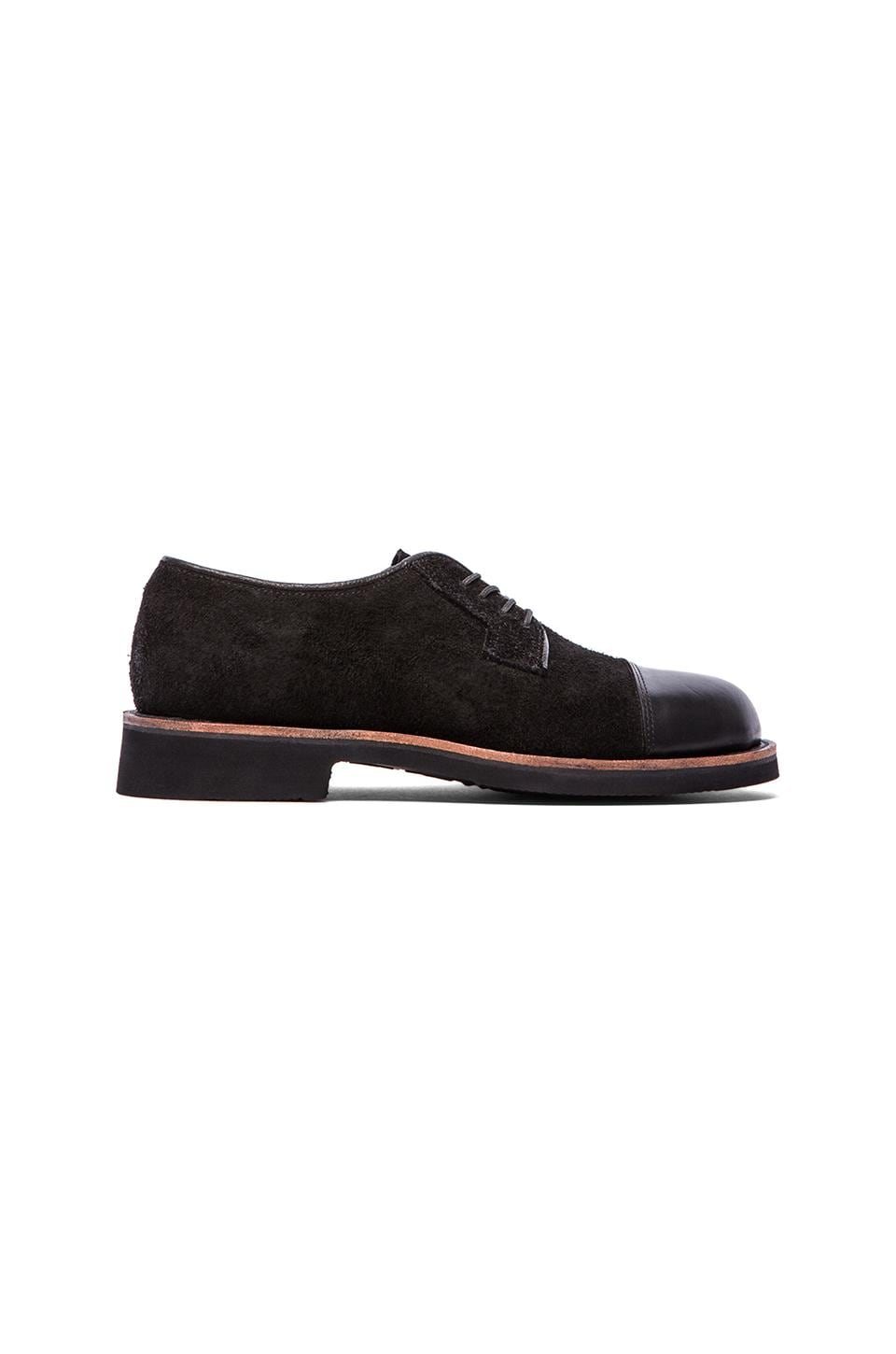 Broken Homme Thomas Cap Toe Oxford in Black