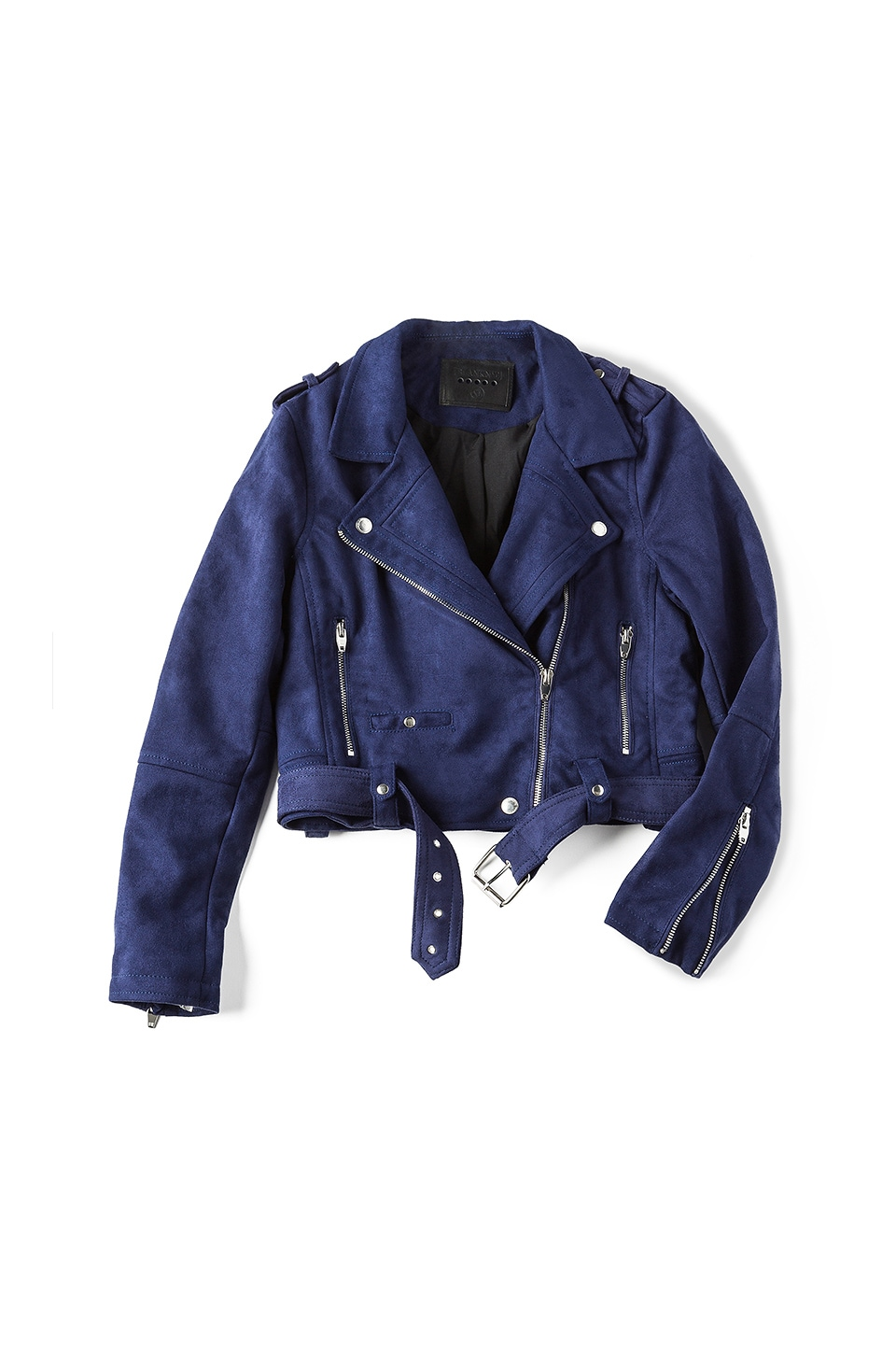BLANKNYC Moto Suede Jacket in Morning