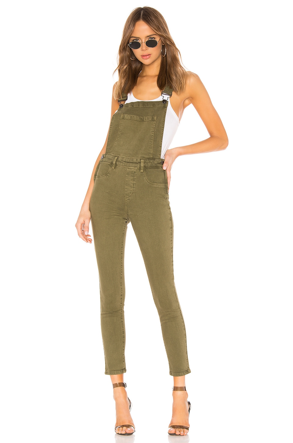 BLANKNYC Fitted Skinny Overall in Apple Jack