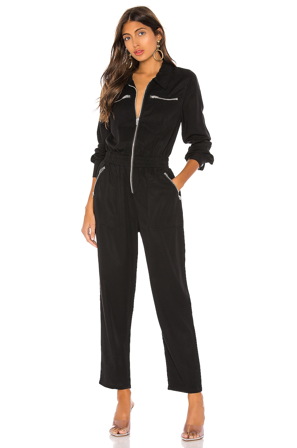 BLANKNYC Black Out Jumpsuit in Black Out