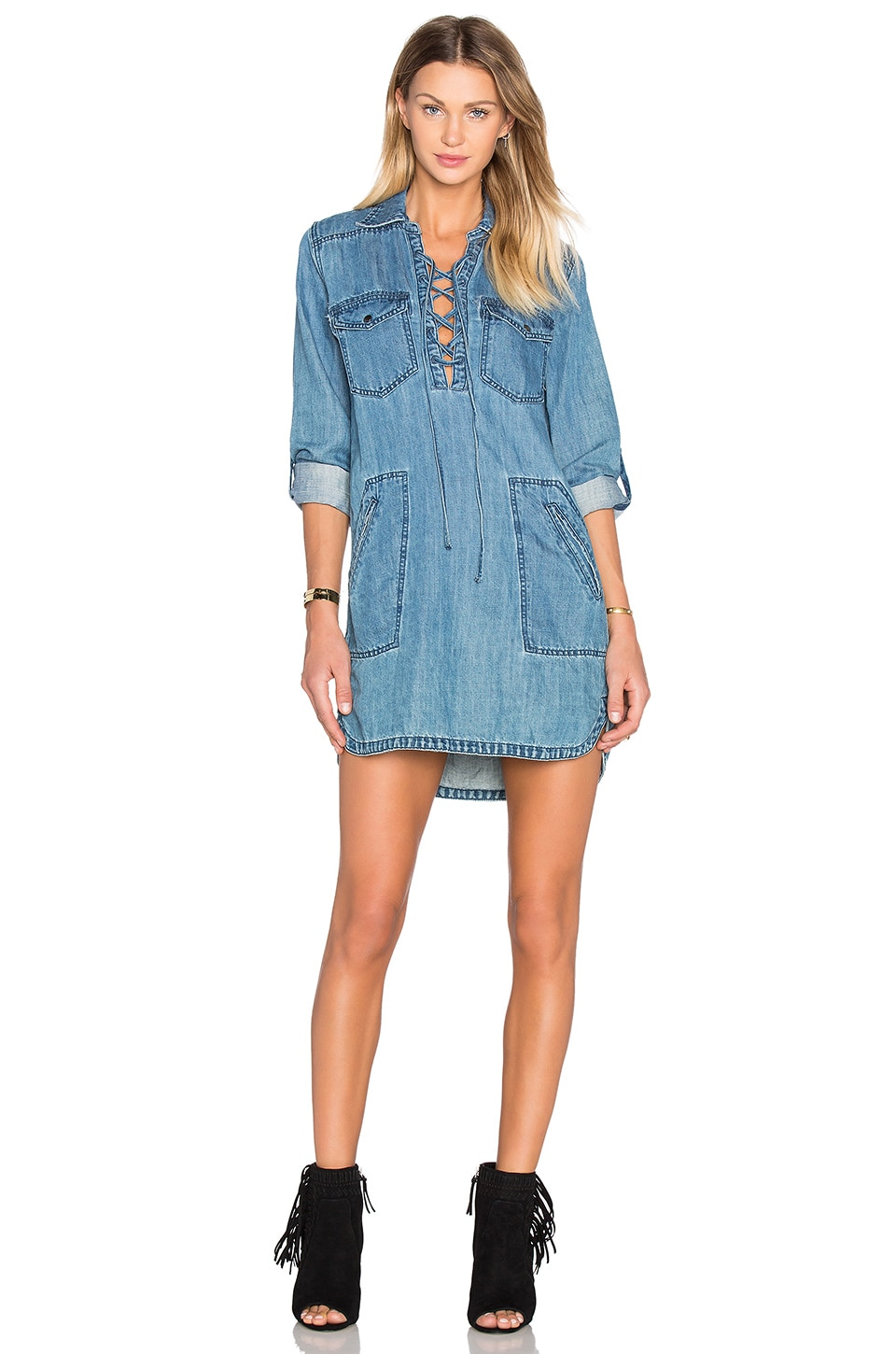 BLANKNYC Denim Mini Dress in Freak Out