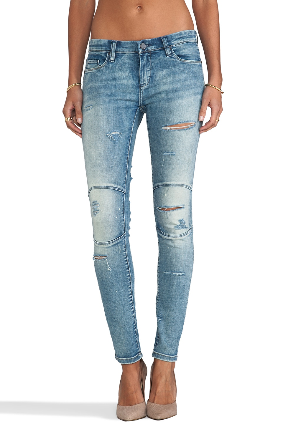 BLANKNYC Distressed Jean in Bees Knees
