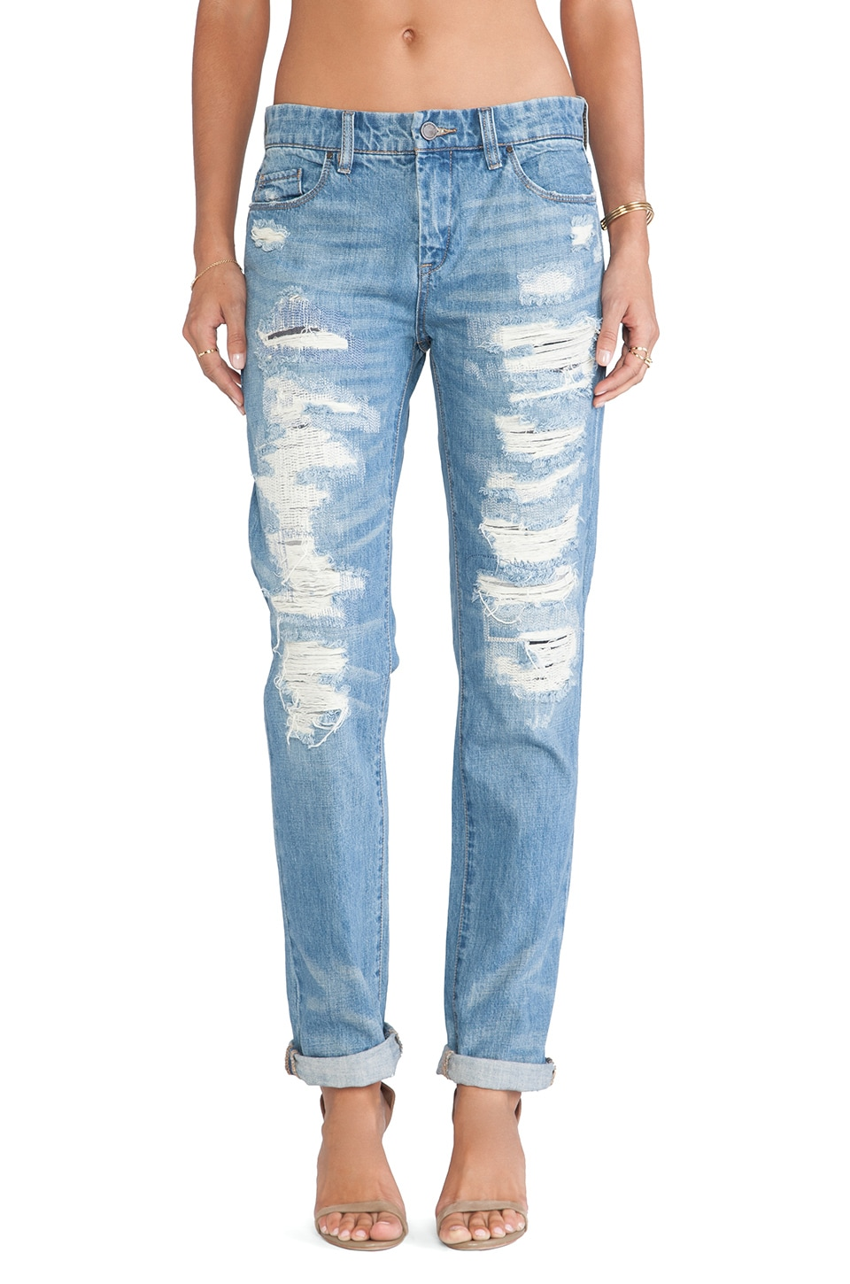 BLANKNYC Boyfriend Jean in Torn to Shreds