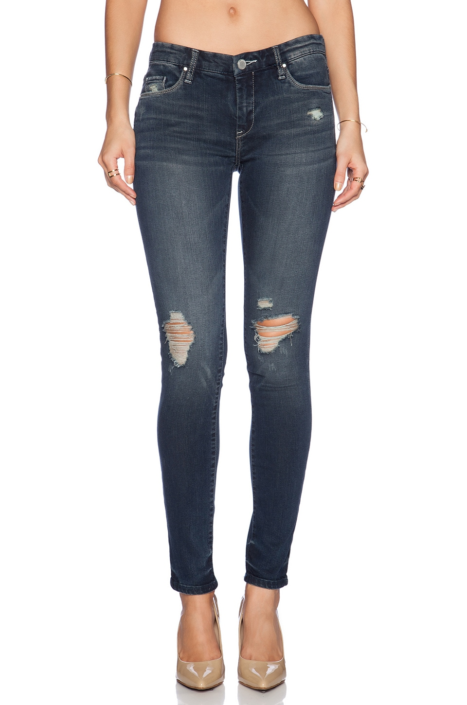 BLANKNYC Distressed Skinny in Hearing Voices