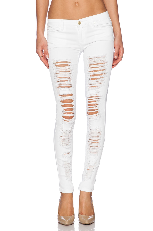 BLANKNYC Distressed Skinny in White Lines
