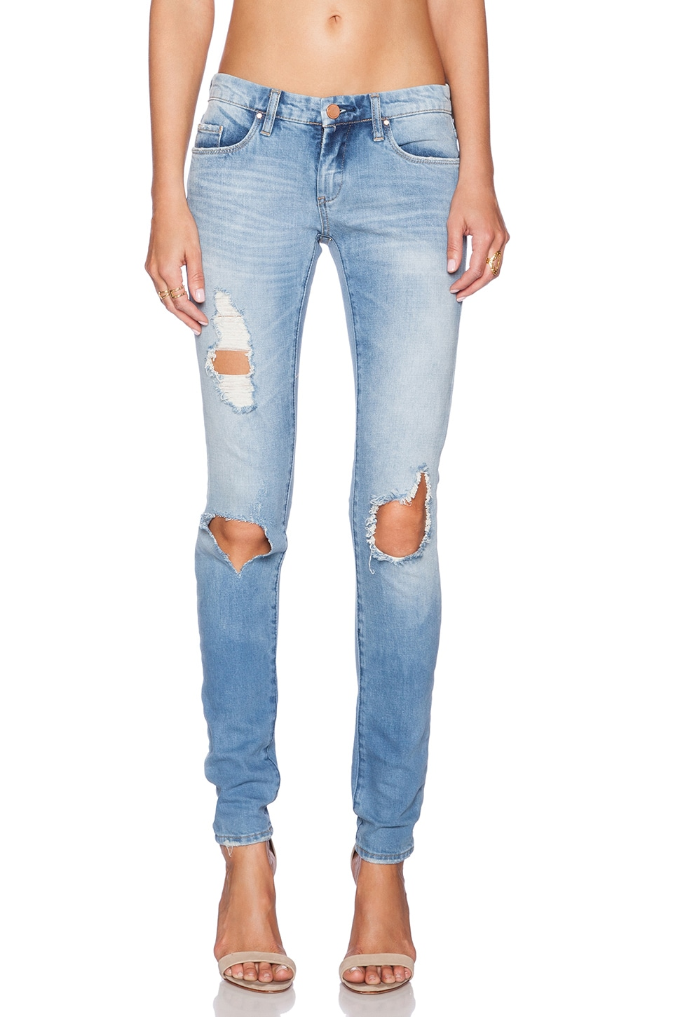 BLANKNYC Distressed Skinny in Good Vibes