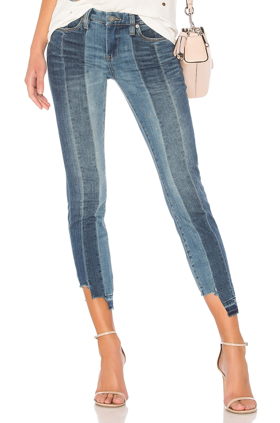 BLANKNYC High and Low Skinny in Blue