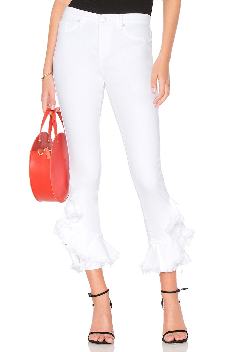 BLANKNYC Reade Crop Anything Goes Jean in White